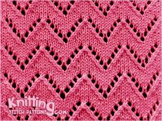 Chevron knitting. Great lace stitch for shawls, scarves, and sweaters!