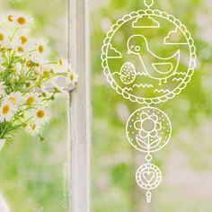 Lente vogeltjes hanger raamtekening Dorm Mirror, Easter Drawings, Doodle Lettering, Chalk Markers, Easter Colors, Window Art, Chalk Art, Decoration, Stained Glass