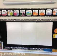 Affordable dry erase board. create new white board surfaces! Ladybug's Teacher Files: Affordable Dry Erase Board