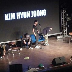 Hyun Joong onstage (right now!) at 2K13 Feel Korea Show K-Pop Concert in Brazil