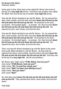 Lots of ideas for teaching high and low. Love this story about Mr. Brown and Mr. Black- use with movement and acting out the story, then with singing voices, then with xylophones! Kindergarten Music, Preschool Music, Kindergarten Lessons, Music Activities, Music Lesson Plans, Music Lessons, Music Classroom, Classroom Ideas, Music Teachers