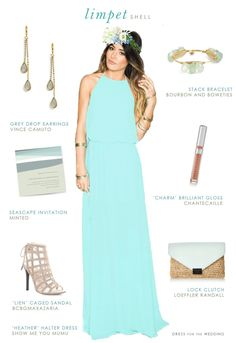 This seaglass bridesmaid dress is a pretty aqua blue, that reminds us of the Pantone color Limpet Shell. This pale turquoise blue maxi dress style is perfect for modern bridesmaids and makes for a great beach bridesmaid dress that can be worn again. Beach Bridesmaid Dresses, Bridesmaid Outfit, Wedding Color Pallet, Beach Wedding Inspiration, Wedding Ideas, Popular Wedding Colors, Dusty Rose Color, Blue Wedding, Trendy Wedding