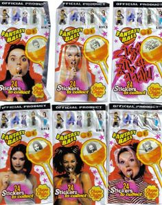 Spice Girls lollypops