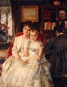 Alfred Stevens (1823-1906) Belgian Painter, All Happiness