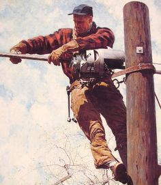 The Lineman (1949) / Norman Rockwell