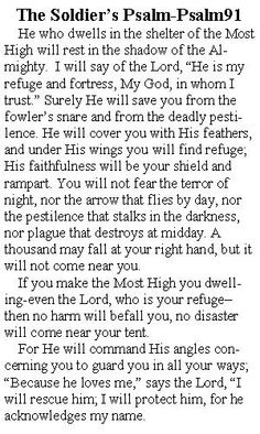 The #Soldier's prayer, #Psalm91 1-7, 11 - May our Lord be w/them as they fight for freedom for all