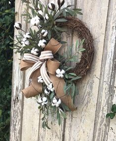 Cotton Wreath Cotton Boll Wreath Preserved Cotton