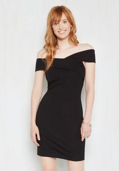 At Fierce Value Sheath Dress - Black, Solid, Casual, Bodycon / Bandage, Sleeveless, Knit, Good, Scoop, Short, Party, Cocktail, Girls Night Out, Valentine's, Pinup, Off the Shoulder, Spring, Summer, Fall, Winter, LBD, Halloween, Homecoming