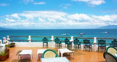 Beautiful view from the Scandi Divers Sky Bar Sky Bar, Resorts, Philippines, Destinations, Tropical, Patio, Outdoor Decor, Beautiful, Vacation Resorts