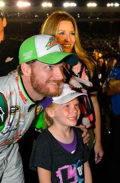 Dale, Amy and a fan.  http://www.pinterest.com/jr88rules/dale-jr-2014  #DaleJr2014