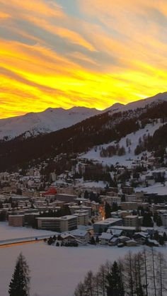Davos. In this beautiful place all the worldleaders are coming together to talk about climate problems