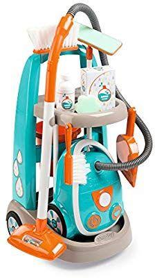 Smoby 330309 Chariot De Menage Aspirateur Electronique 9 Accessoires Amazon Fr Jeux Et Jouets Aspirateur Jouet Jouet Enfant