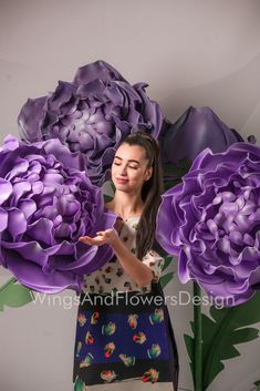 Giant Flowers, Send Flowers, Wedding Flowers, Blush Peonies, Purple Peonies, Peony Flower, Flower Wall, Flower Backdrop, Artificial Flowers