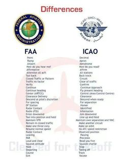 ICAO and FAA differences