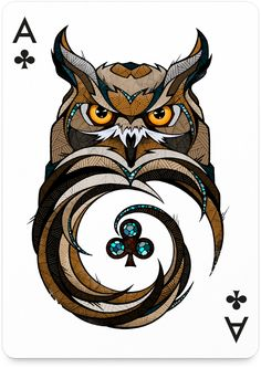 owl playing card by Andreas Preis