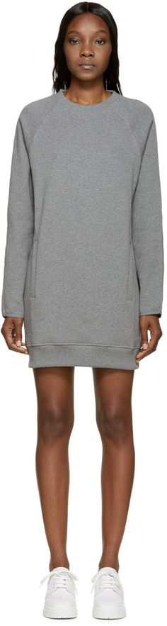 Acne Studios Grey Fiera Sweatshirt Dress