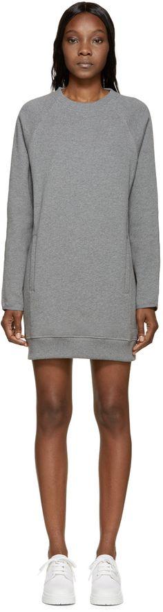 Acne Studios Grey Fiera Sweatshirt Dress