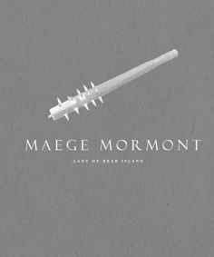  ASOIAF:Minimalist Character Posters  Maege Mormont  *Requested by anonymous