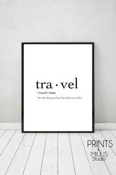 Reisen Print Poster zum ausdrucken die Reisen von PrintsMiuusStudio