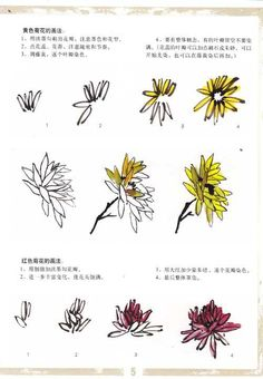 Japan Painting, Ink Painting, Flower Images, Flower Art, Chrysanthemum Drawing, Chinese Painting Flowers, Chinese Drawings, Korean Painting, Tinta China
