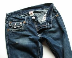 TRUE RELIGION MENS 31 29 BILLY BIG T JEANS EURO HEMMED #TrueReligion #BootCut