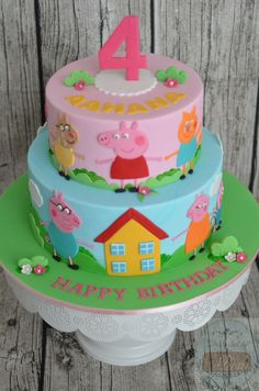 Place a new celebration that is certainly uncomplicated, elegant, and also great! Minor piggies will Friends Birthday Cake, Peppa Pig Birthday Cake, Friends Cake, Birthday Cake Girls, 3rd Birthday, Birthday Celebration, Tortas Peppa Pig, Peppa Pig Cakes, Aniversario Peppa Pig