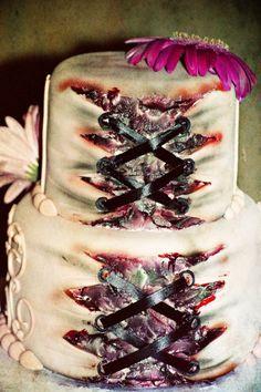 zombie corset cake..