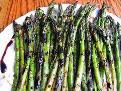 Oven Roasted Asparagus with balsamic glaze