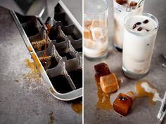 I recently photographed this recipe for Almond Breeze, a collaboration project with DesignLoveFest. A refreshing shake with mint, chocolate, vanilla almond milk, frozen yogurt and coffee ice cubes. Coffee Ice Cubes, Coffee Coffee, Iced Mocha, Almond Breeze, Frozen Yogurt, Smoothie, Food And Drink, At Least, Drinks