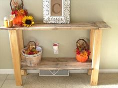 DIY Pallet Console Hall Table   Pallet P& I made 1 like this