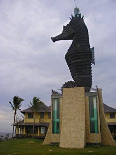 Miri seahorse lighthouse. Miri is a small but fast growing city in northern Sarawak, Malaysia, on the island of Borneo