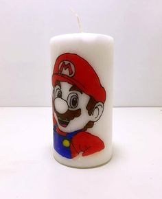 Mario Original Unscented Candle. by AWhimsicalHoot on Etsy