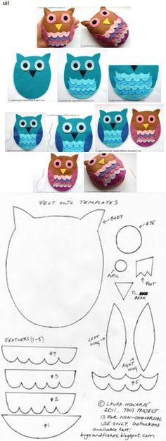 uilen. Owl Crafts, Diy And Crafts, Crafts For Kids, Crochet Crafts, Sewing Crafts, Potholder Patterns, Sock Toys, Felt Owls, Fleece Fabric