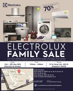 Electrolux Family Sale 14 to 15 May 2016 - Why Not Deals 1