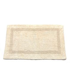 Ivory Large Cotton Reversible Bath Mat