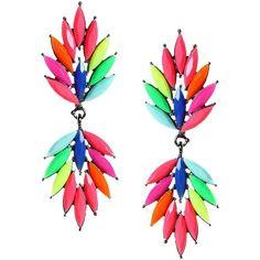 Amrita Singh Rainbow Earrings (220 AED) ❤ liked on Polyvore featuring jewelry, earrings, dangle earrings, amrita singh jewelry, amrita singh jewellery, dangling jewelry and rainbow jewelry