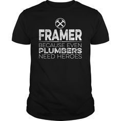 Framer Hero T-Shirts, Hoodies. SHOPPING NOW ==► https://www.sunfrog.com/Jobs/Framer-Hero-Black-Guys.html?id=41382