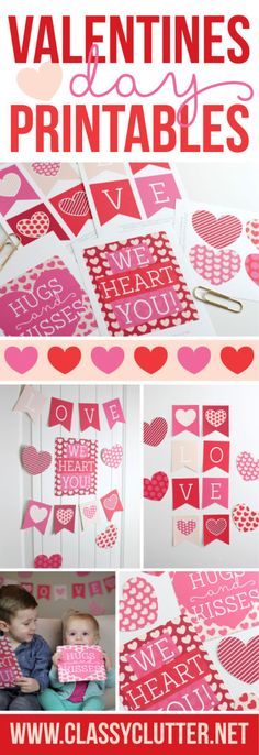 Adorable Valentine's Day Printables - Click to print yours for free!