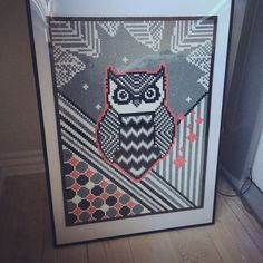 Owl hama perler bead art by nanahelstrup