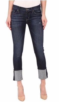 Hudson Jeans Muse Cuff Crop Jeans Sz 29 $209 FTC #4211