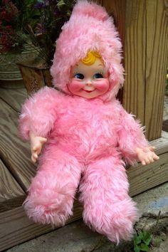 """RUSHTON 20"""" VINTAGE VINYL FACE PLUSH BLONDE SWEET FACED SNOW BABY GIRL DOLL"""