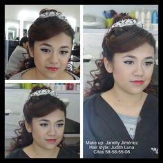 Los labios y los ojos van a la inversa así que si la atención se centra en la boca el resto del rostro debe tener un estilo muy sutil.  #vellesasalon #judithluna #janelly #luzma #makeup #hair #cortes #peinados #maquillajes