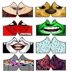 Funny Face Mask, Diy Face Mask, Mouth Mask Fashion, Cool Masks, Half Face Mask, Masks Art, Princess Costumes, Mask Design, Diy Fashion