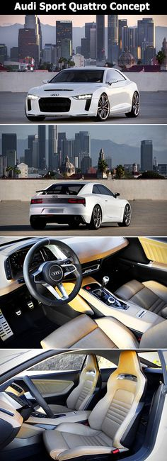 The Audi Sport Quattro Concept has sees some obvious cosmetic revamping with sharper lines crafted from a mixture of lightweight materials like aluminum, magnesium, and of course plenty of carbon fiber.