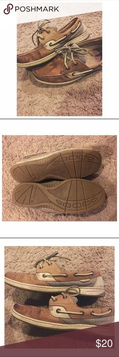 Sperry top siders Worn, but good condition and freshly cleaned. Fits 8-8.5 Sperry Top-Sider Shoes Flats & Loafers