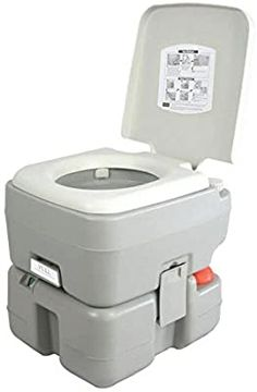 Buy SereneLife Portable Toilet - Porta Potty Seat Piston Pump Flush, Cover Gallons Water Tank Capacity Travel, Camping, Hiking & Other Outdoor Indoor Activities - online - showmehits Portable Toilet For Camping, Camping Toilet, Camper Awnings, Popup Camper, Camper Van, Tiny Camper, Camping Equipment, Camping Gear, Outdoor Camping