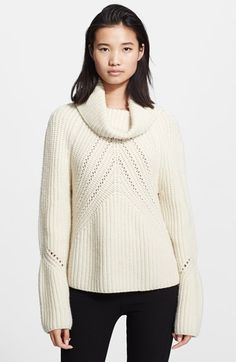 rag & bone 'CeCe' Funnel Neck Chunky Knit Sweater available at #Nordstrom