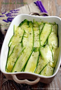 Just Cooking, Cooking Tips, Italian Zucchini Recipe, My Recipes, Sweet Recipes, Vegan Vegetarian, Vegetarian Recipes, Antipasto, Vegetable Recipes