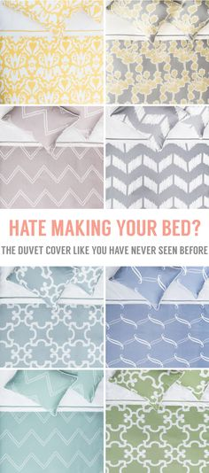 See why the Nova Duvet Cover is the easiest and fastest way to make your bed. As seen on New York Times. My New Room, My Room, Home Bedroom, Bedroom Decor, Bedrooms, Bedroom Ideas, Master Bedroom, Home Projects, Sewing Projects