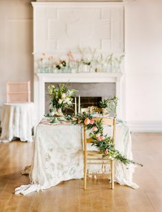 Garland chair sash | Florals by ERIN OSTREICHER DESIGNS